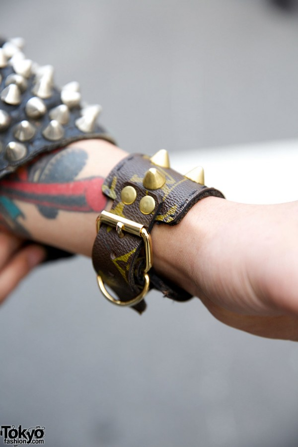 Leather & Spikes Bracelet