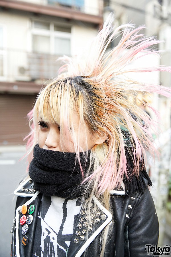 Pink Crosshawk Hairstyle