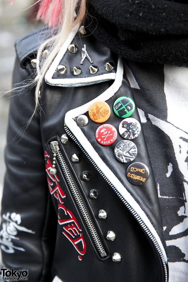 Harajuku Punks W Crosshawk Amp Mohawk Studded Leather Amp Boots