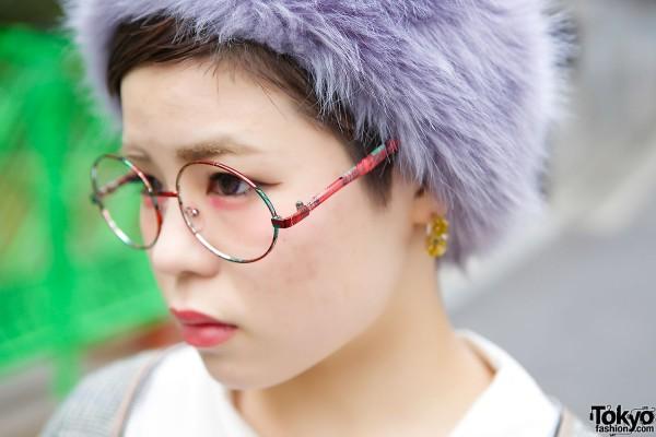 Round Plaid Glasses