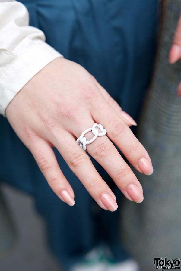 White Chain Ring