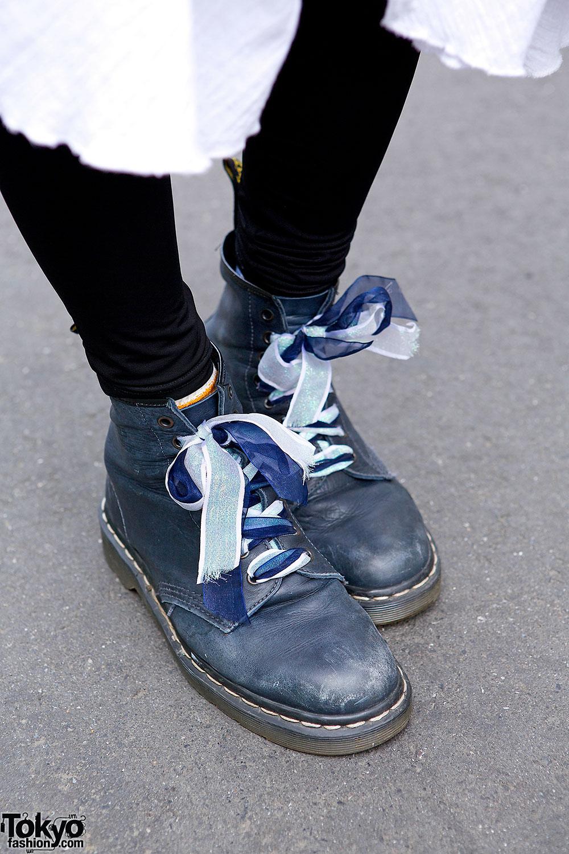 Bomber Jacket Layered Skirt Amp Dr Martens Boots In Harajuku