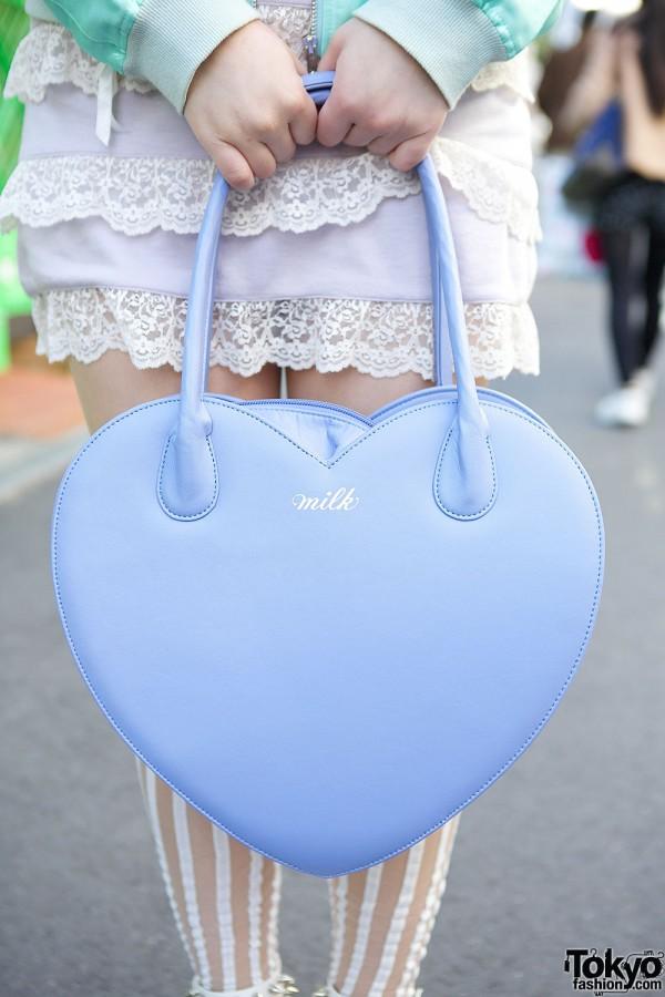 Milk Heart Shaped Handbag