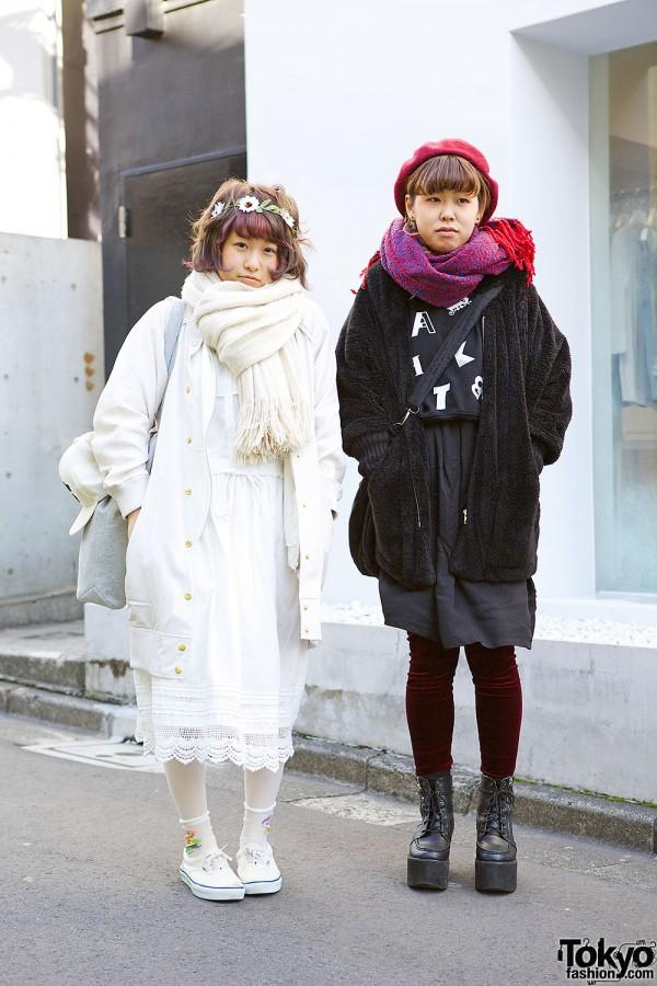 Harajuku Girls in Black & White