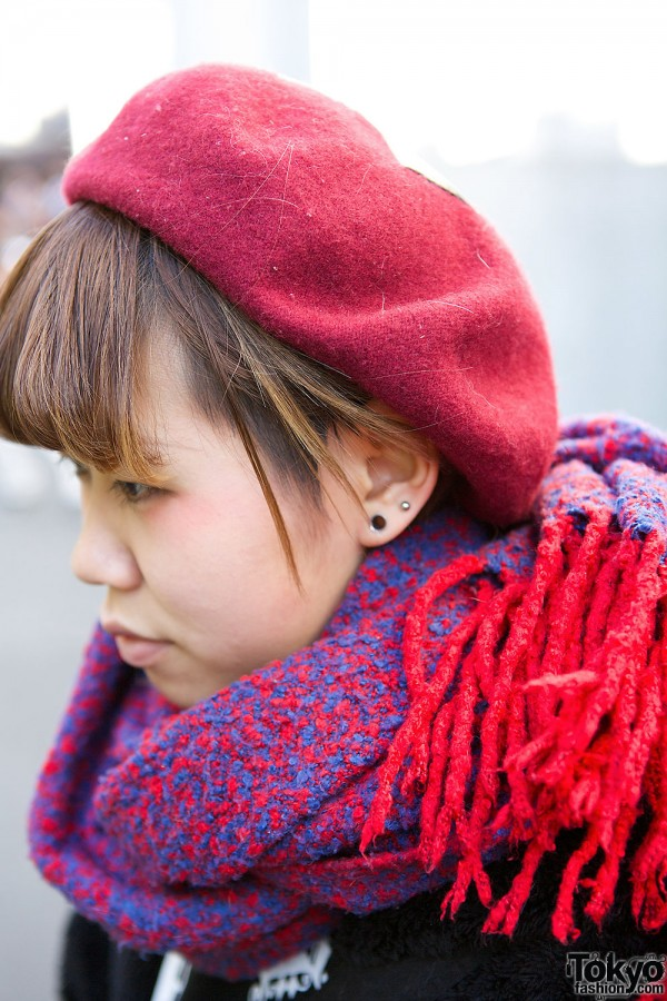 Red Beret & Scarf