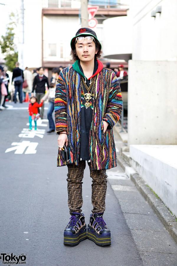 Fashion Buyer in Harajuku w/ Platform Nike, Coogi & Fendi