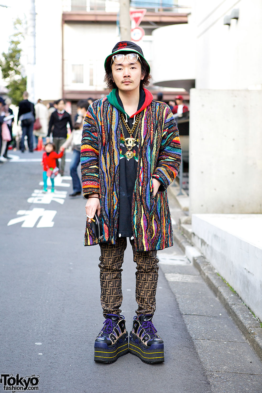 Fendi Logo Pants & Coogi Coat