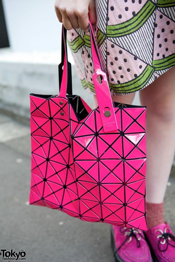 Pink Issey Miyake Bao Bao Bag