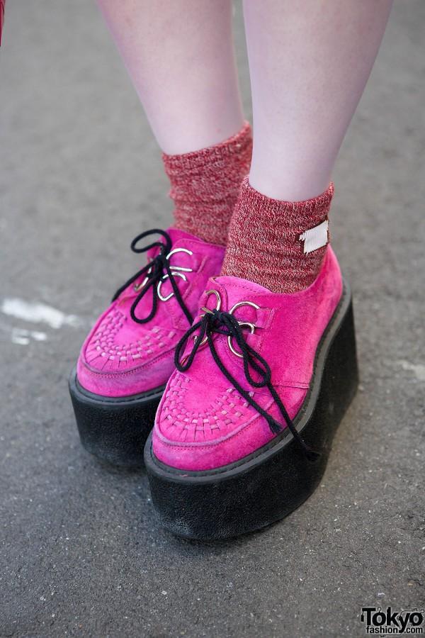 Pink Nadia Harajuku Creepers