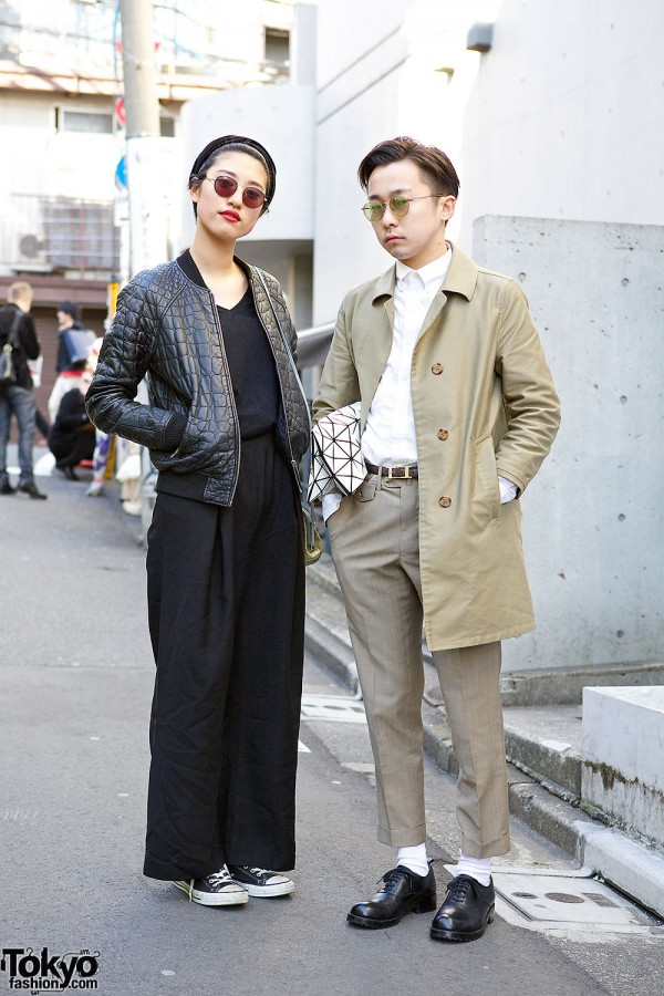 Resale Trench w/ Issey Miyake Bao Bao, Comme des Garcons, Bomber Jacket & Converse in Harajuku