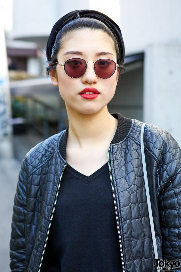 Topshop Bomber Jacket & Sunglasses