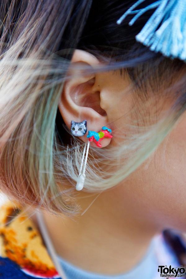 Cat & Horse Stud Earrings