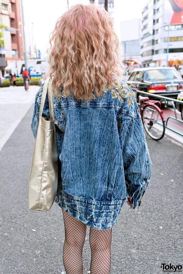 Harajuku Acid Wash Denim Jacket