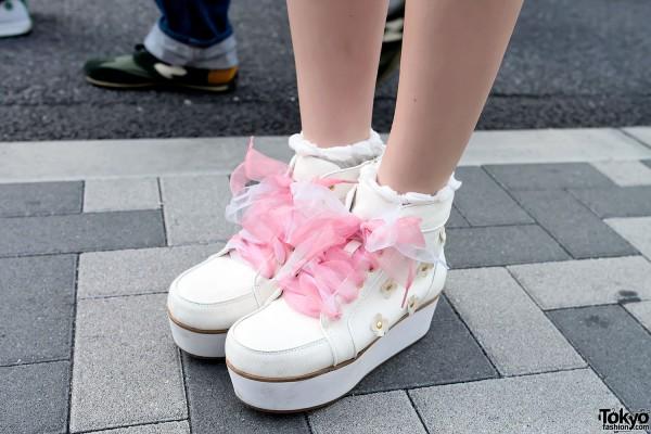 Ribbon Laces Platform Sneakers