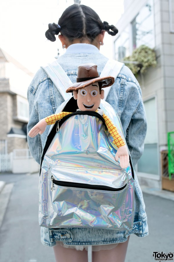 Hologram Backpack & Woody from Toy Story