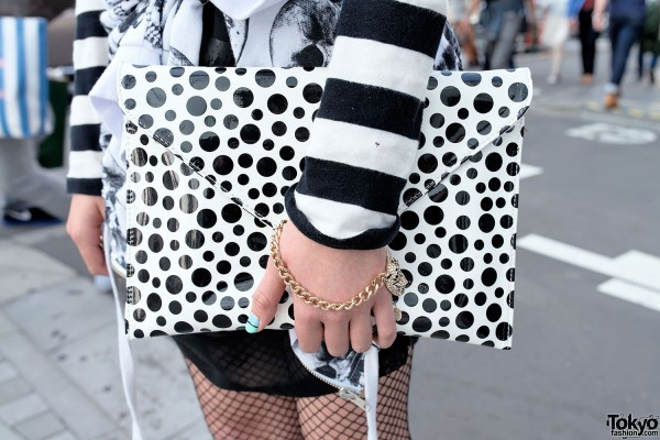Polka Dot Clutch in Harajuku