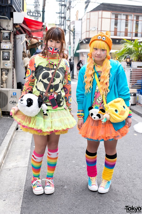 Harajuku Girls With Panda Purses