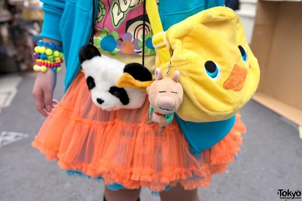 Panda & Chick Purses in Harajuku