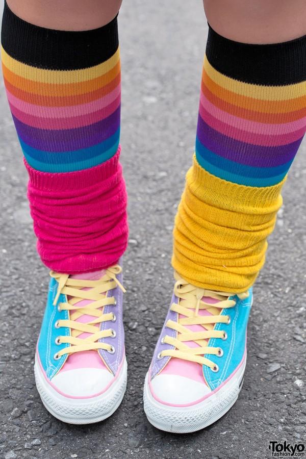 Pastel Sneakers & Leg Warmers