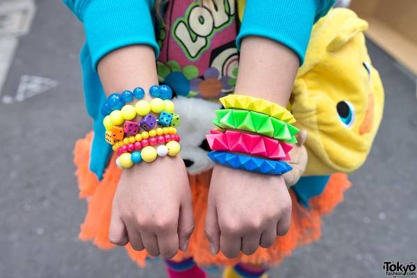 Colorful Studded Bracelets