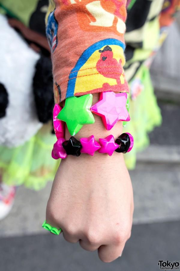 Colorful Star Bracelets in Harajuku