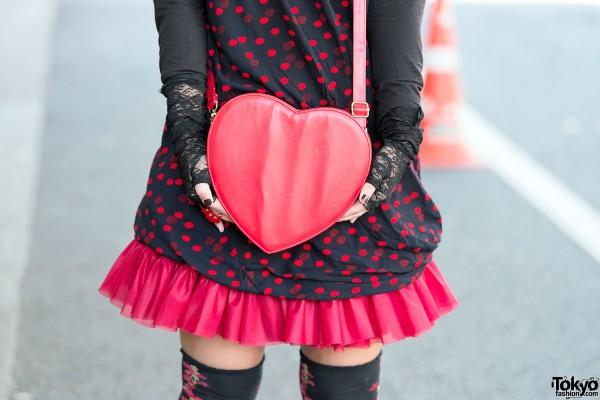 Red Heart Handbag in Harajuku