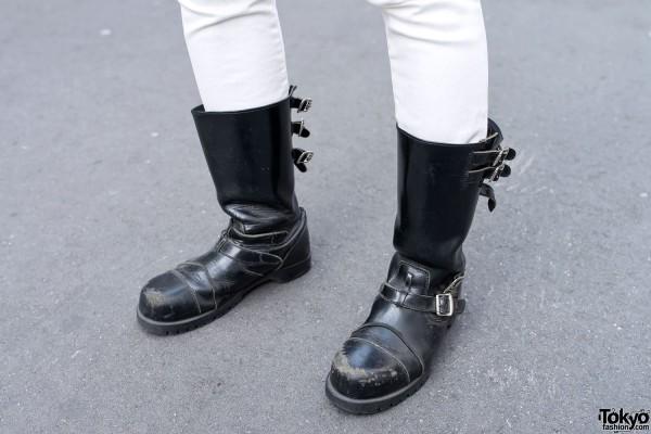 Motorcycle Boots in Harajuku