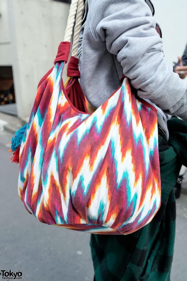 Colorful Rope Bag in Harajuku