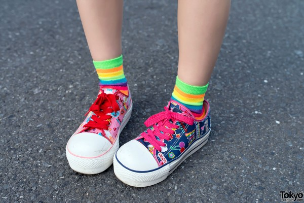 Colorful Question Mark Lowtop Sneakers