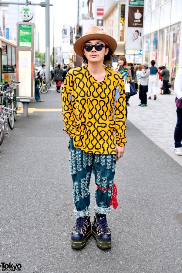 World's End Hat & Shirt, Vivienne Westwood & Nike Platforms in Harajuku
