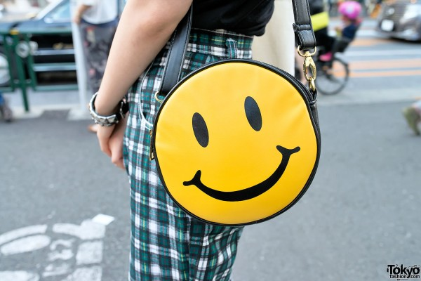 Smiley Face Bag from Bubbles Harajuku