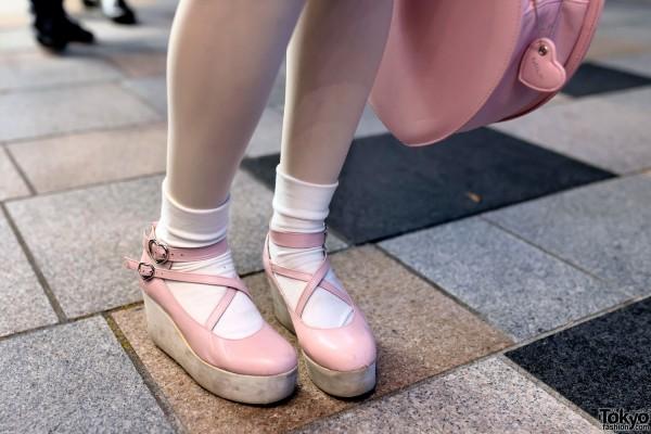 Pink Milk Harajuku Platform Shoes