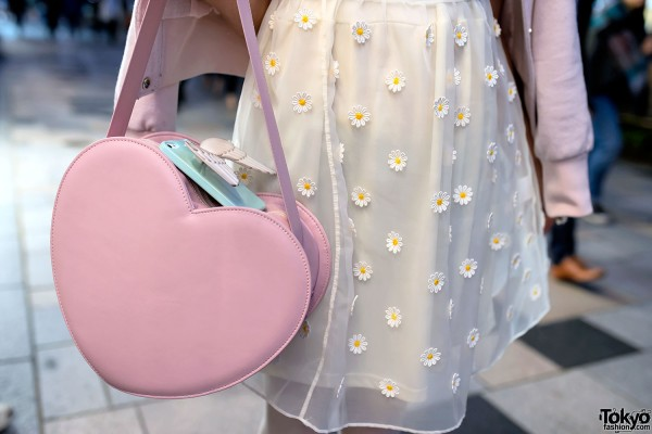 Milk Harajuku Heart Shaped Handbag