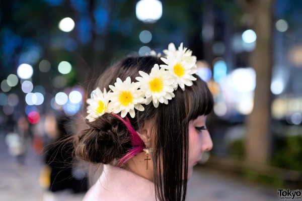 Pretty Flower Crown in Harajuku