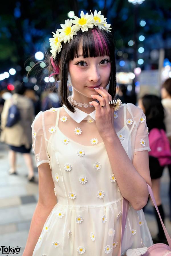 LilLilly Sheer Flower Dress & Choker