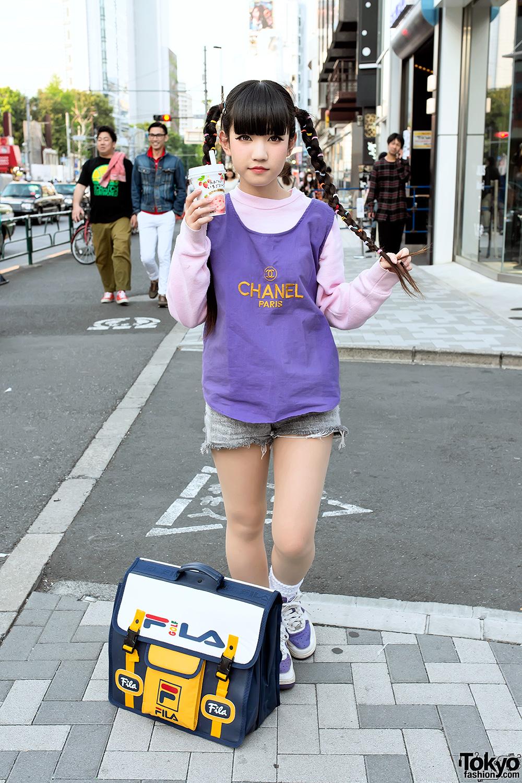 Cute Harajuku Style With Twin Braids