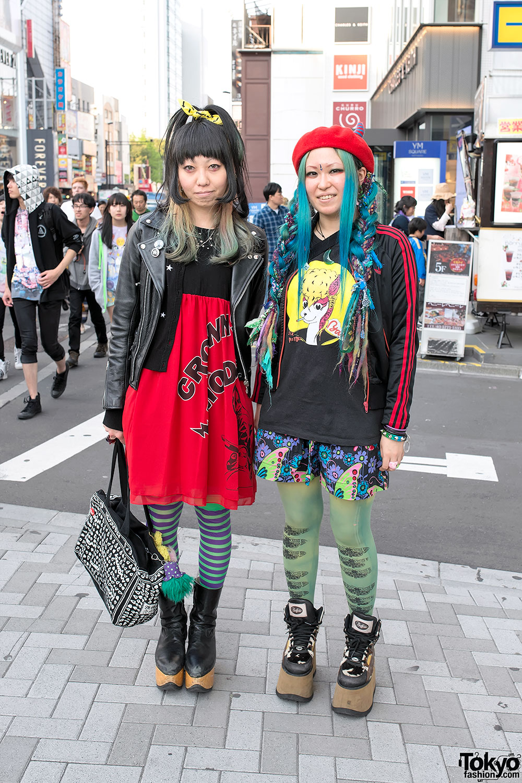 Blue Hair & Colorful Harajuku Fashion