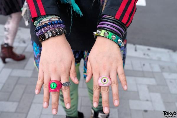 Eyeball Rings & Studded Bracelets