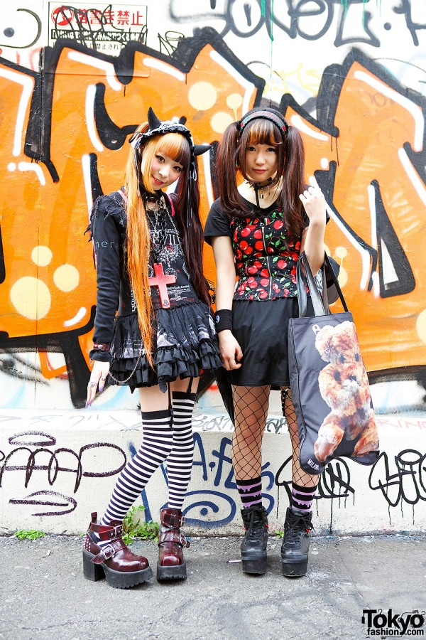 Harajuku Girls in Twin Tails w/ Sex Pot Revenge, Hellcatpunks & h.NAOTO