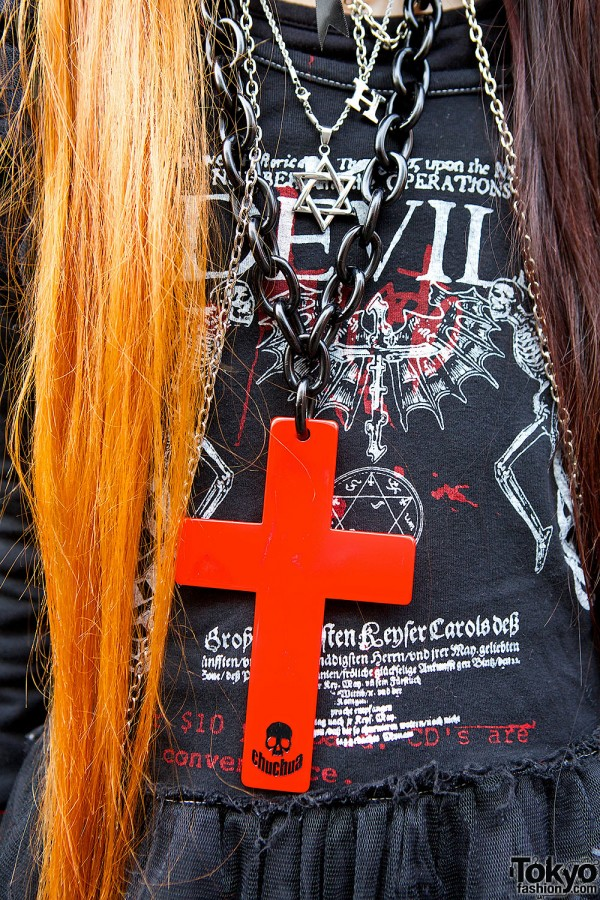Giant Red Cross Necklace