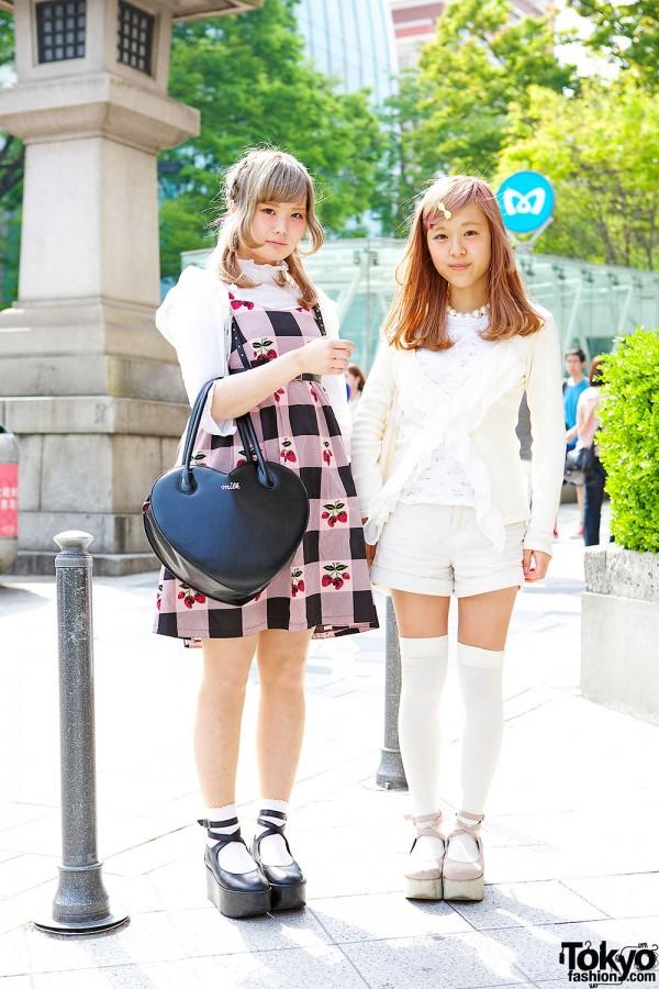 Harajuku Girls w/ Rocking Horse Shoes, The Virgins Top & Strawberry Print