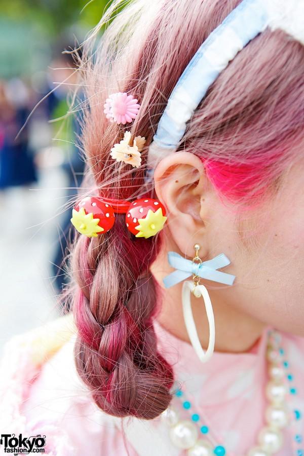 Strawberry Hair Ties