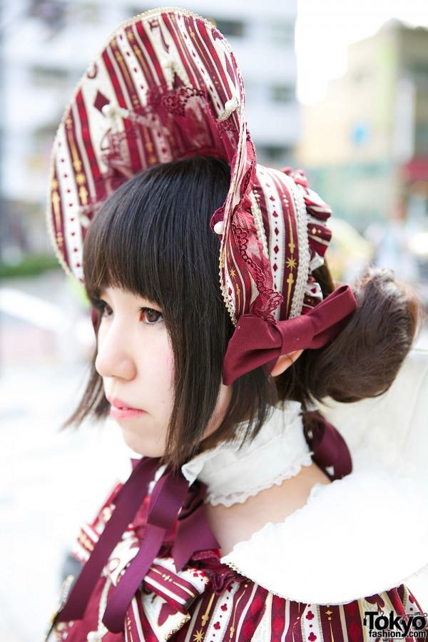 Burgundy Angelic Pretty Bonnet