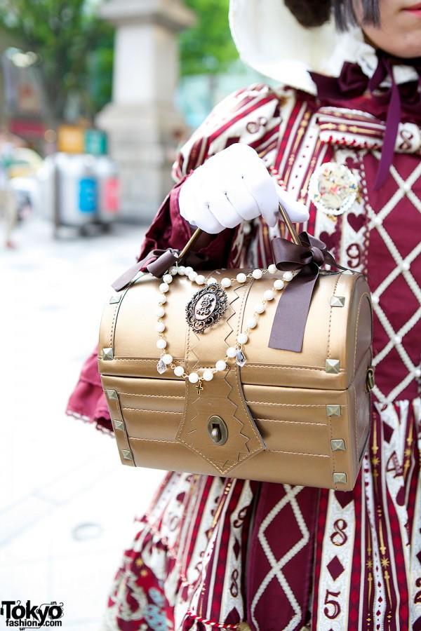 Treasure Chest Shaped Handbag