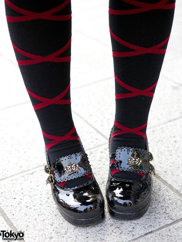 Stockings & Lolita Patent Shoes