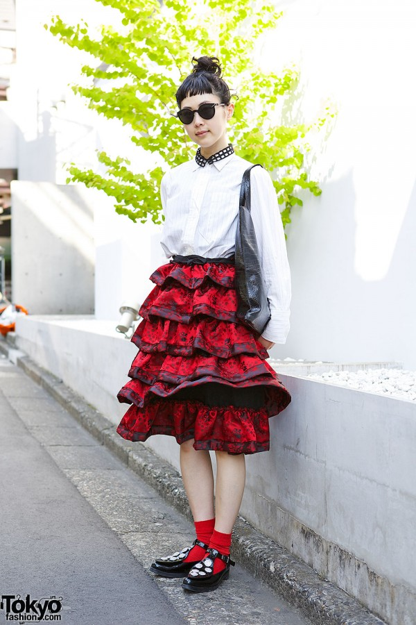 Tricot Comme des Garcons Ruffle Skirt