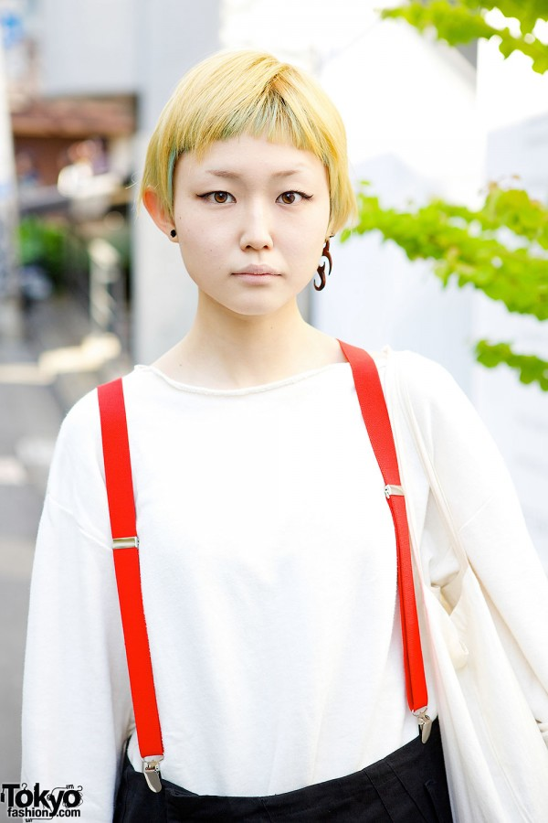 Orfeo White Top & Red Suspenders