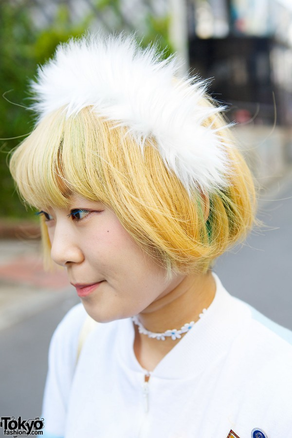 Blond Hair & Puffy Headband