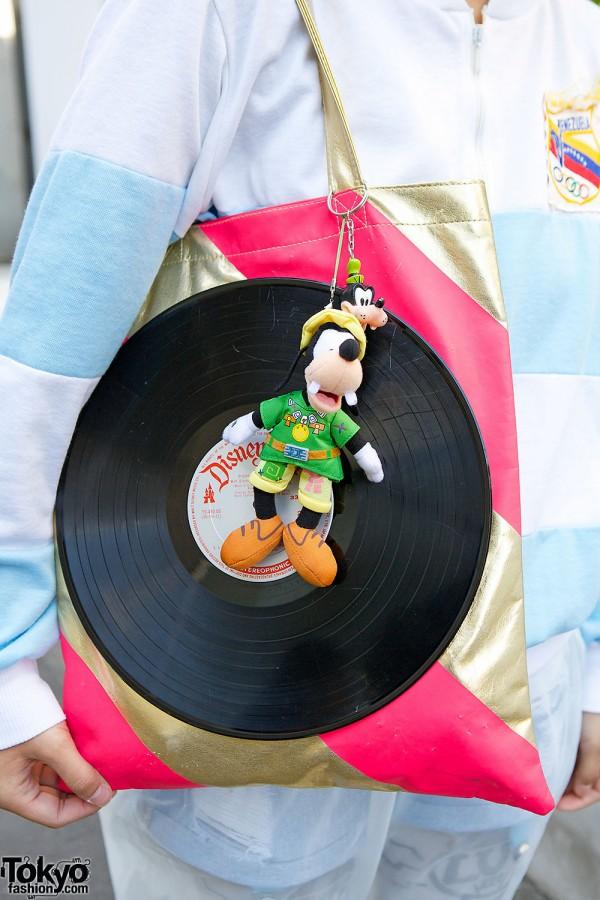 Handmade Disney Vinyl Record Tote
