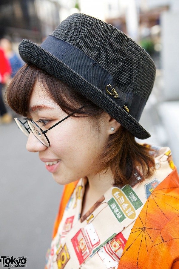 Fedora Hat & Glasses